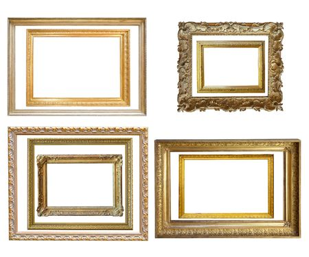 Set of  Vintage gold picture frame Stock Photo - 6596127