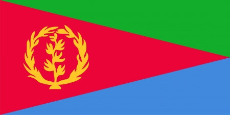 eritrea: Flag of Eritrea  Illustration over white background