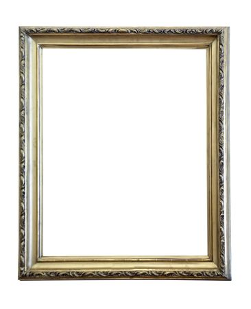 gold antique frame isolated on white background  Stock Photo - 6601132