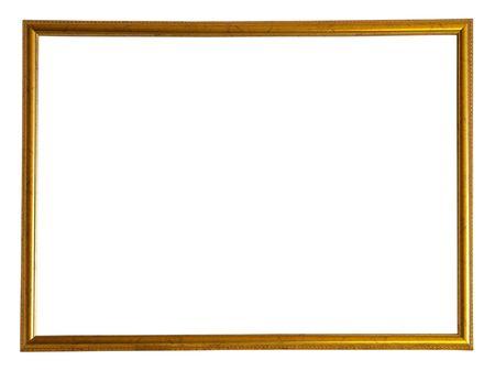 skinny: Marco de imagen moderna de oro fino