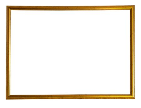 outage: Modern thin gold picture frame Stock Photo
