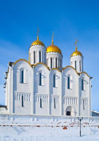 assumption:  Assumption cathedral at Vladimir in winter, Russia