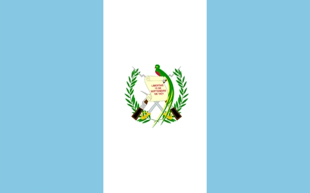 guatemala: Flag of Guatemala. Illustration over white background Illustration