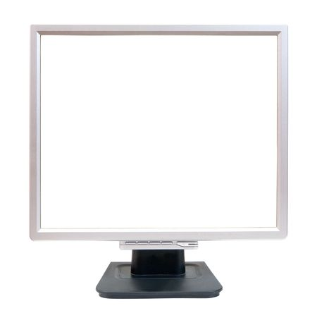 Empty LCD monitor. Isolated on white background  photo