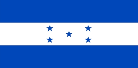 honduras: Flag of Honduras. Illustration over white background