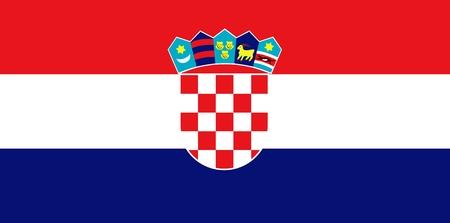 flag croatia: Bandera nacional de Croacia. Ilustraci�n sobre fondo blanco  Vectores