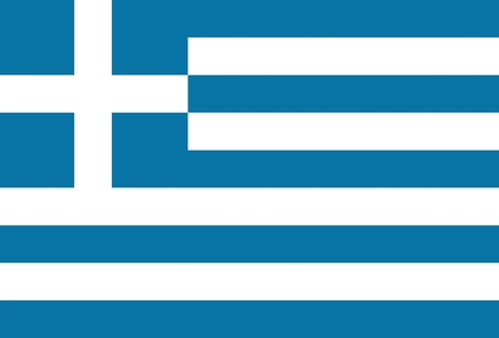greece: Greece national flag. Illustration on white background