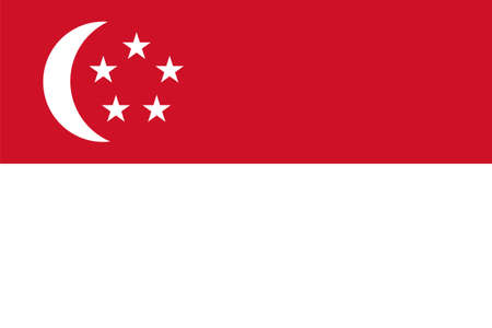 Flag of Singapore. Illustration over white background