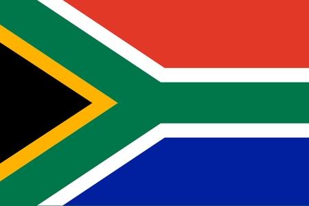 Flag of RSA. Illustration over white background Vector