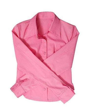 Pink blouse. Isolated on white background Stock Photo