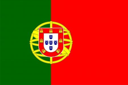 bandera de portugal: Bandera nacional de Portugal. Ilustraci�n sobre fondo blanco  Vectores