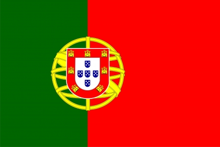 drapeau portugal: Drapeau national du Portugal. Illustration sur fond blanc Illustration