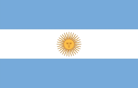 Flag of Argentine. Illustration over white background