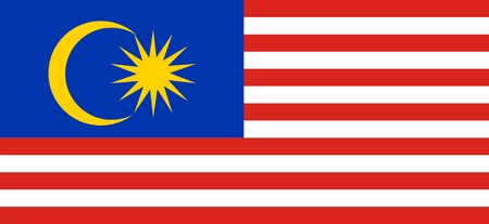 Malaysia national flag. Illustration on white background Vector