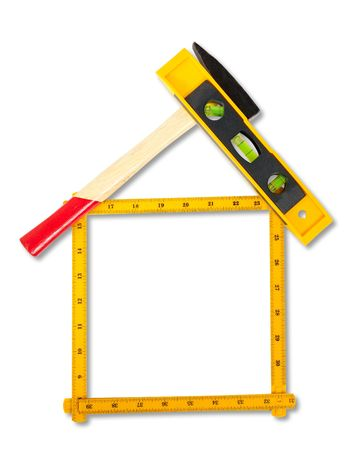 house concept build with tools. Stock Photo - 6753180