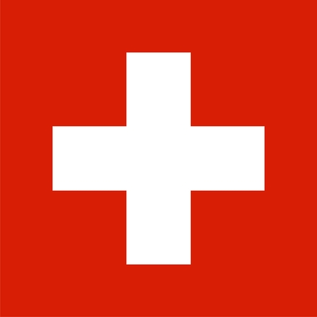 helvetia: Switzerland national flag. Illustration on white background