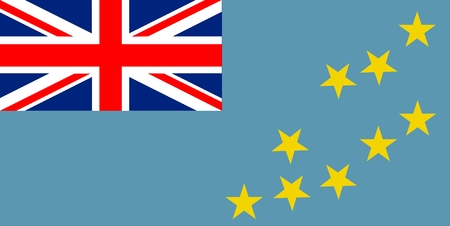 tuvalu: Flag of Tuvalu. Illustration over white background