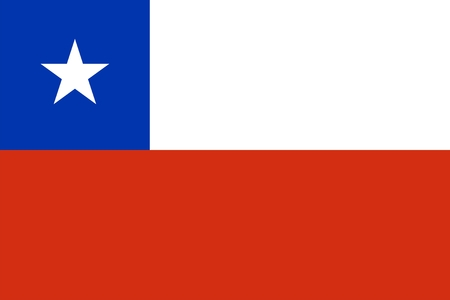 Flag of Chile. Illustration over white background