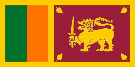 sri: Flag of Sri Lanka. Illustration over white background