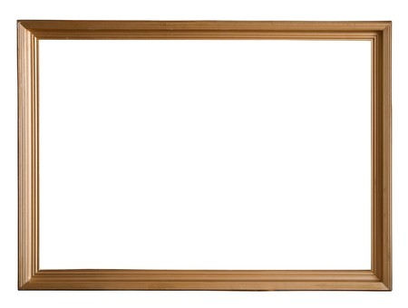 Modern gold picture frame Stock Photo - 6933078