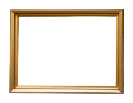 Modern  gold picture frame Stock Photo - 6933076