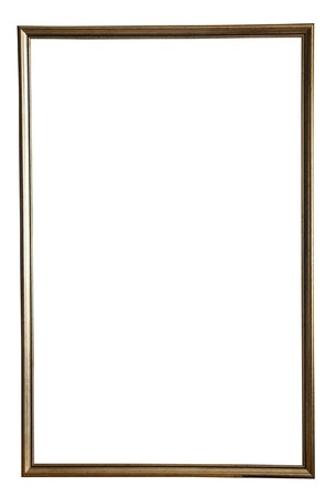 thin gold picture frame Stock Photo - 6933102