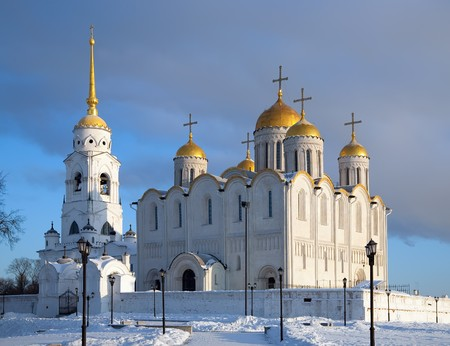 The Cathedral of the Assumption at Vladimir in winter photo