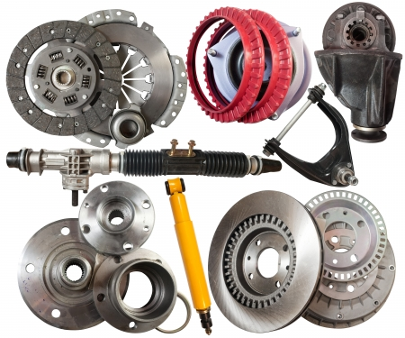Set of automotive parts.