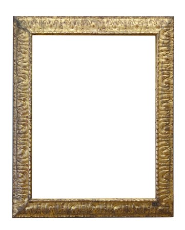 gold antique frame isolated on white background Stock Photo - 7093099