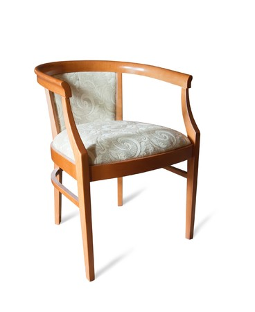 comfortable chair: Wooden chair. Stock Photo