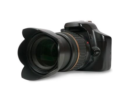 digicam: digital photo camera.  Stock Photo