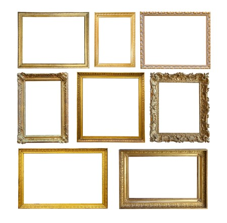 frame photo: Set of  Vintage gold picture frame.
