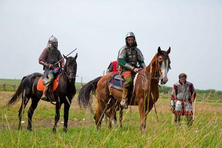 SUZDAL, RUSSIA - JULY 10: knight festival  Stock Photo - 7358369