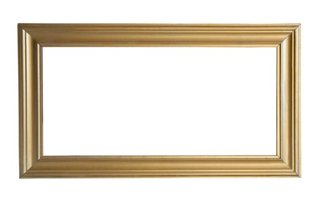 Simple gold picture frame Stock Photo - 7506585