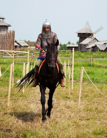SUZDAL, RUSSIA - JULY 10: Members of history  medieval costume as they participates in historical festival