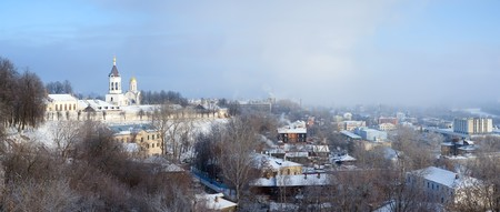 Panorama of winter Vladimir, Rozhdestvenskiy monastery. Russia photo