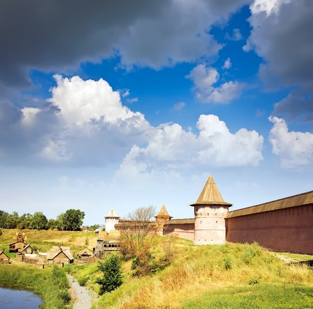 Saviour-Euthimiev monastery fortress at Suzdal  in summer  photo