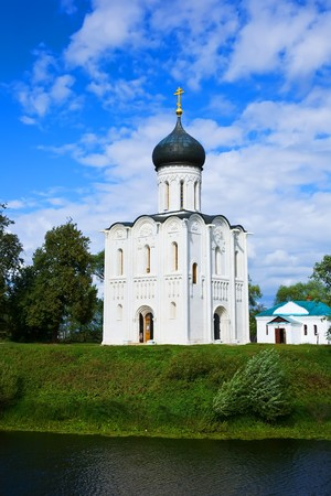 intercession: Church of the Intercession on the River Nerl. Inscribed in the Wold Heritage List of UNESCO