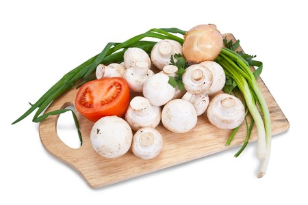 tomatto: champignon mushroom Stock Photo