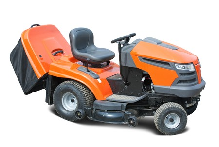 Orange lawn mower. photo
