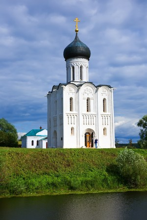 bogolyubovo: Church of the Intercession on the River Nerl in summer