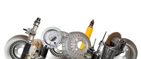automotive parts: Borders of automotive parts. Isolated on white  Stock Photo
