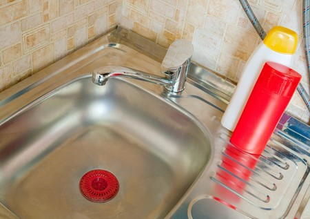 modern kitchen sink with stainless steel basin Stock Photo - 8000699