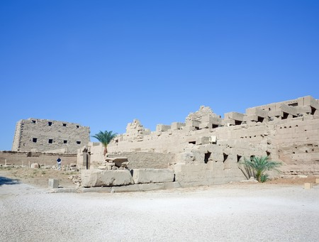 Ruins of Karnak Temple at Luxor, Egypt photo