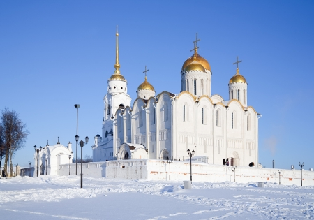 Dormition cathedral at Vladimir in winter, Russia photo