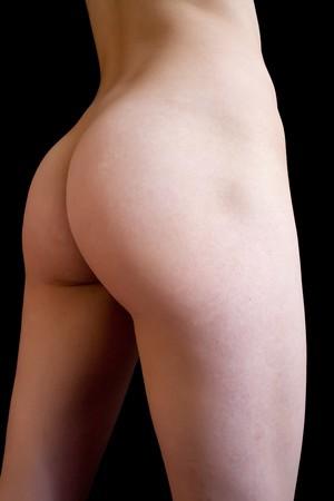 closeup image of girl fanny on black background Stock Photo - 8071814