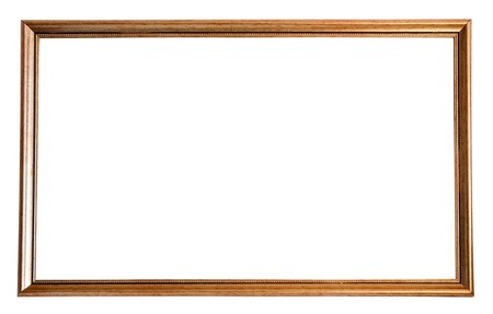 Modern thin  picture frame, isolated  Stock Photo - 8071958