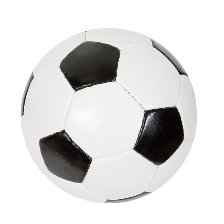 futbol: classic soccer ball. Isolated over white with clipping path