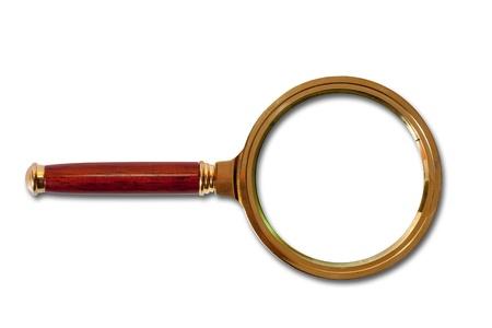 Golden magnifier glass photo