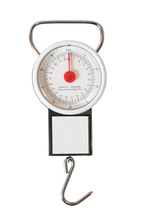 measuring scale: steelyard. Isolated over white background